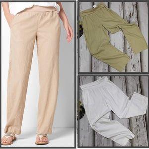 NEW! Sonoma 12 White Pants Straight-Leg Linen